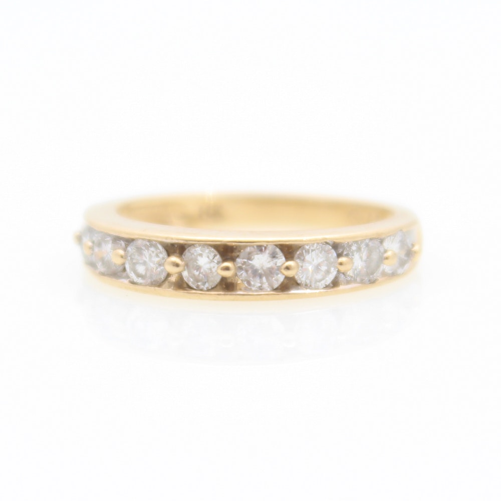 14K Yellow Gold and 1.00 CTW Diamond Ring
