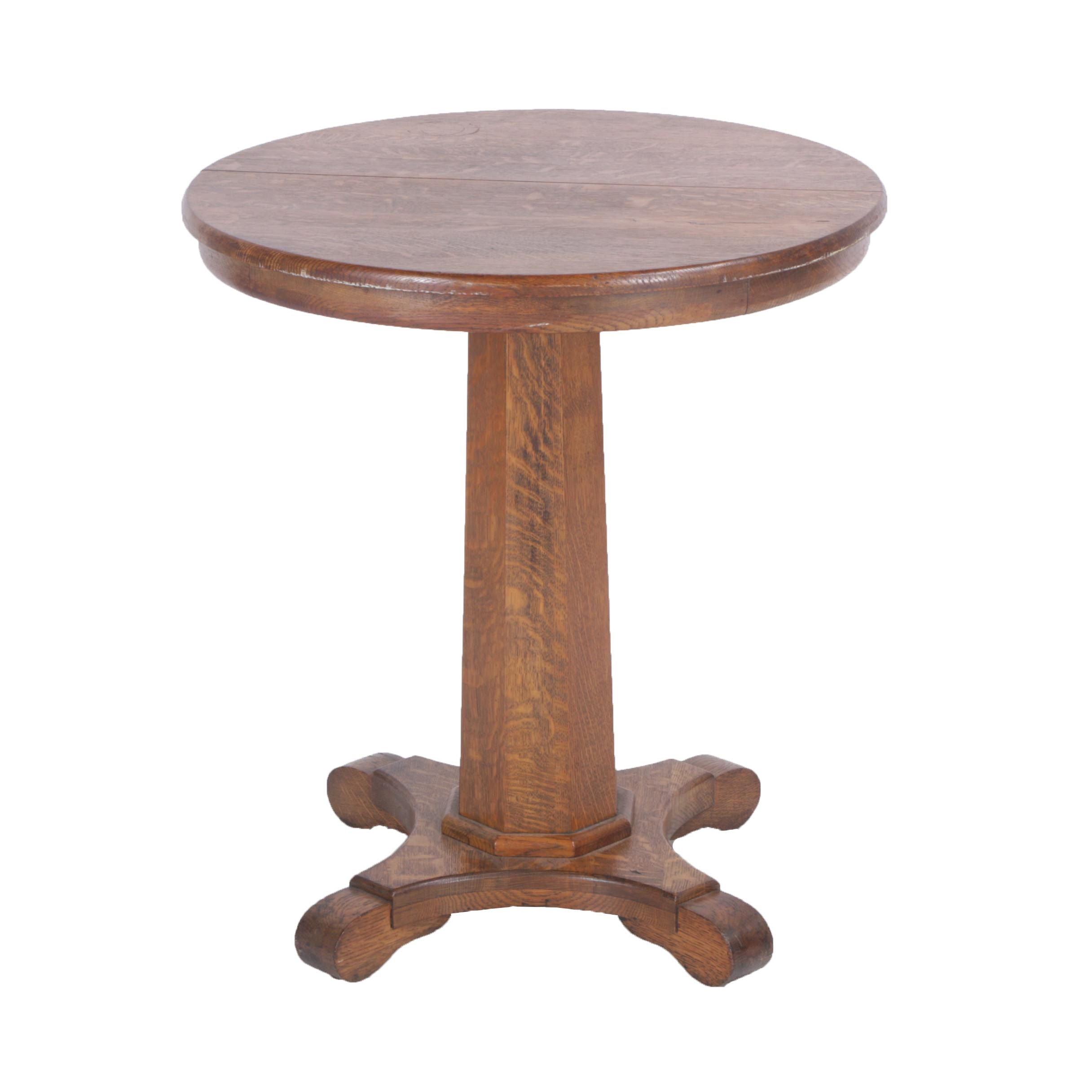 Quarter Sawn Oak Empire Style Side Table