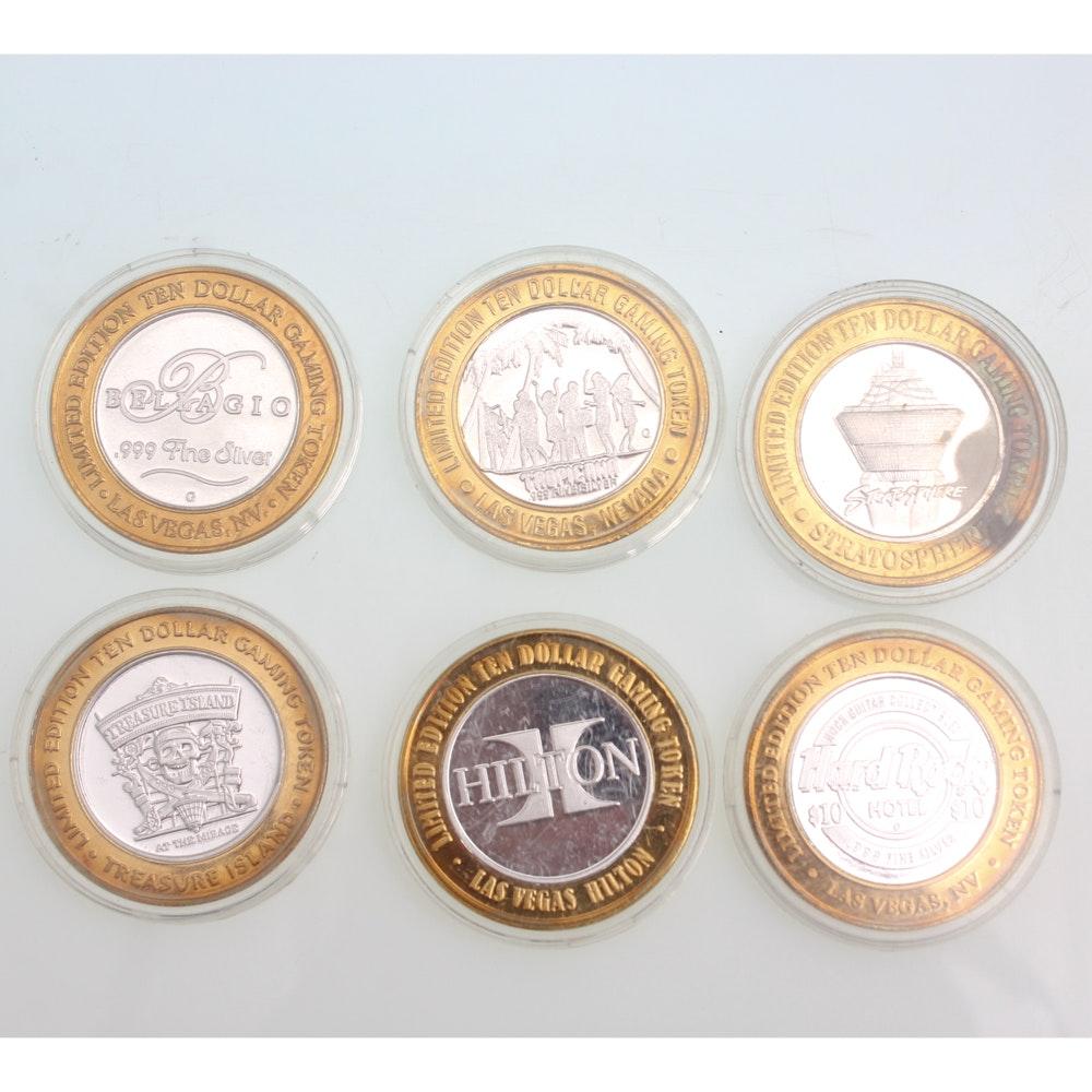 .999 Fine Silver Limited Edition Casino Tokens Featuring Bellagio