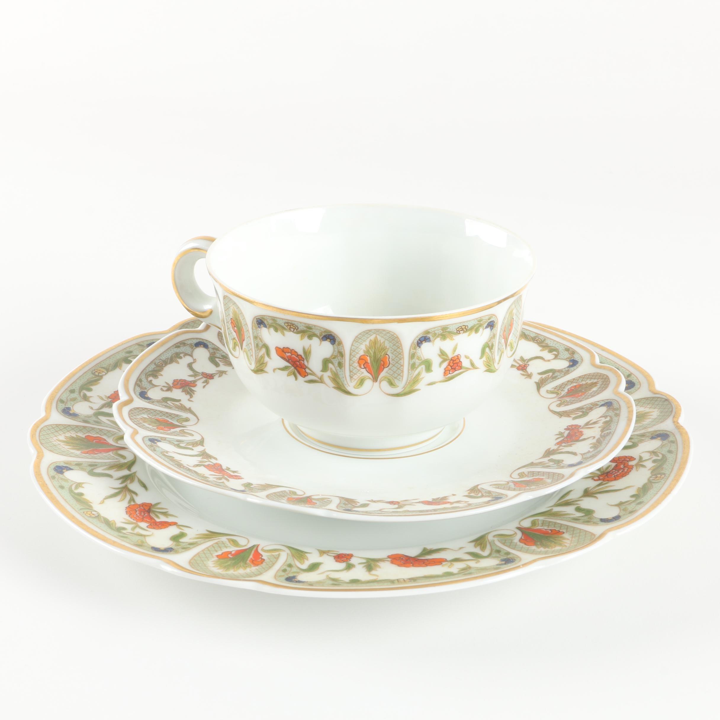 Charles Field Haviland Limoges Porcelain Teacup, Saucer and Plate