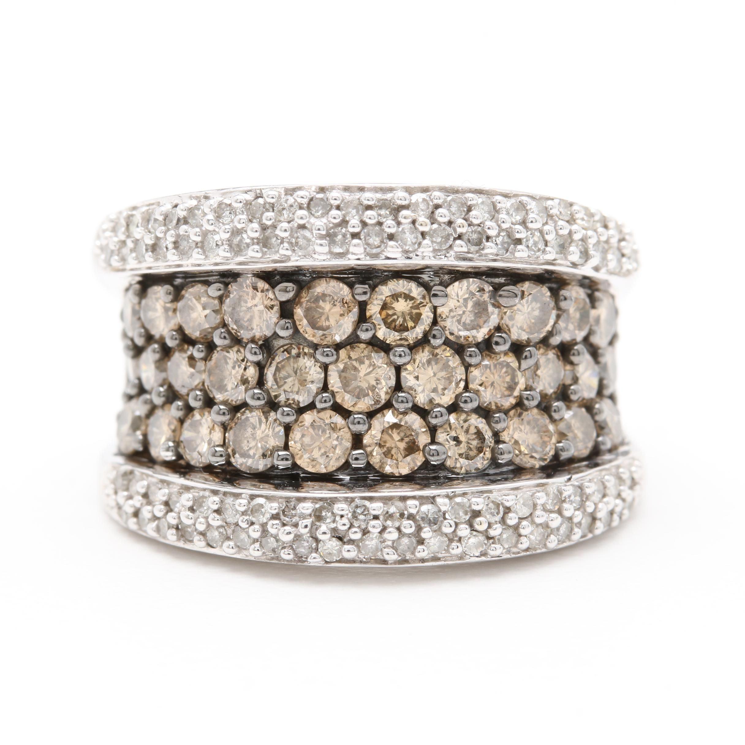 14K White Gold 2.00 CTW Diamond Ring