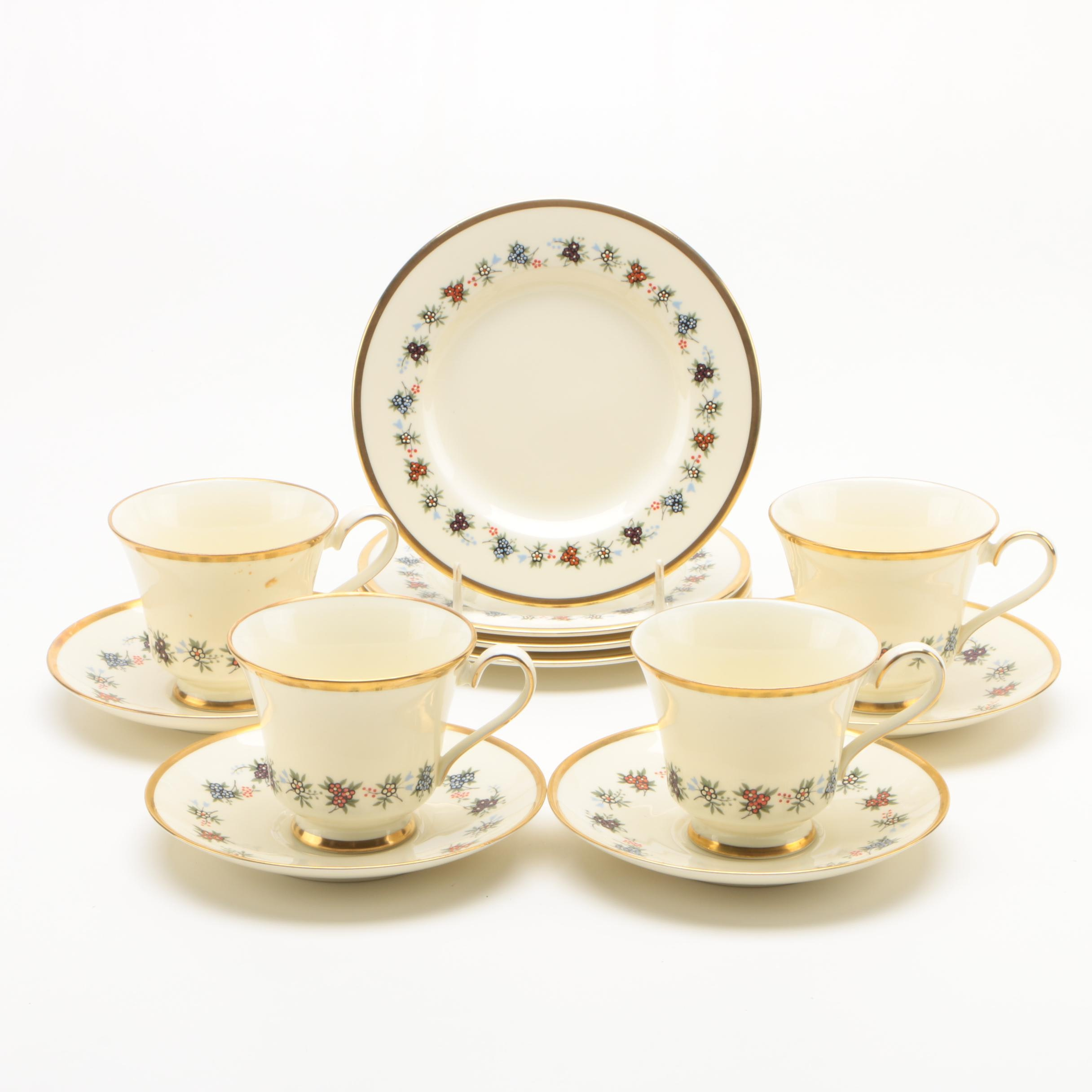 "Minton ""Mirabeau"" Bone China Tea Service for Four"