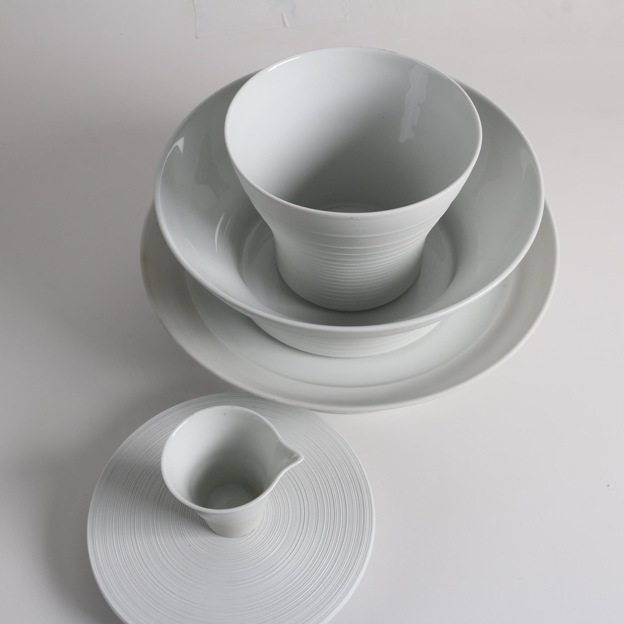 Contemporary Hering Berlin Bisque Porcelain with J.L. Coquet Limoges Ceramics