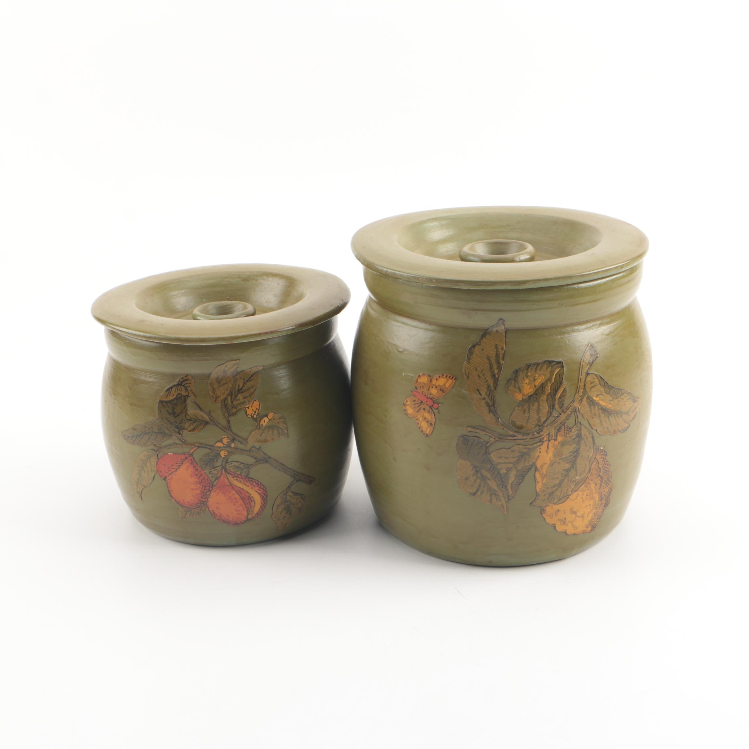 Vintage Stoneware Kitchen Canisters