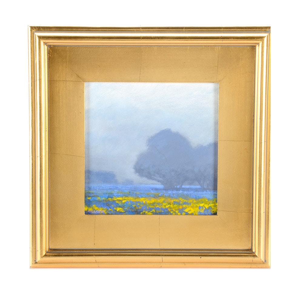William Nelson Original Oil on Canvas Board Landscape Painting