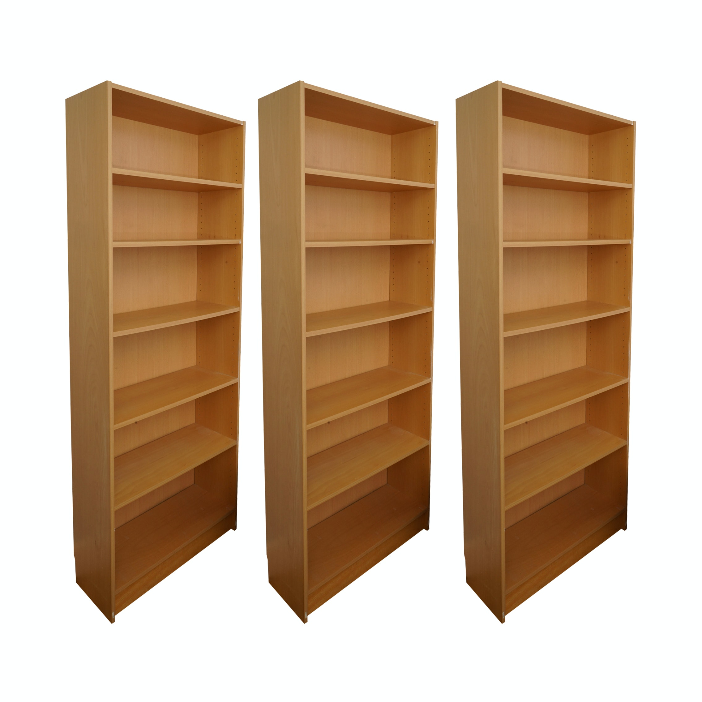 Three Bookcases with Adjustable Shelving
