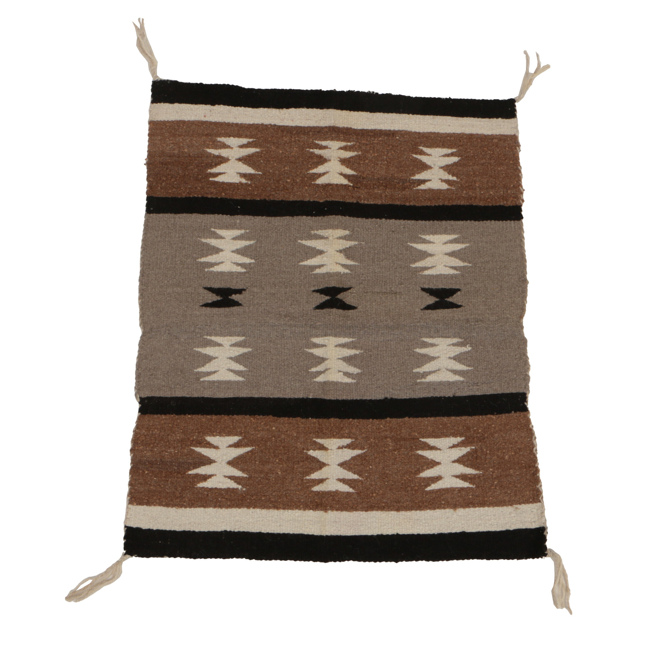 Handwoven Navajo Rug in the Two Grey Hills Style