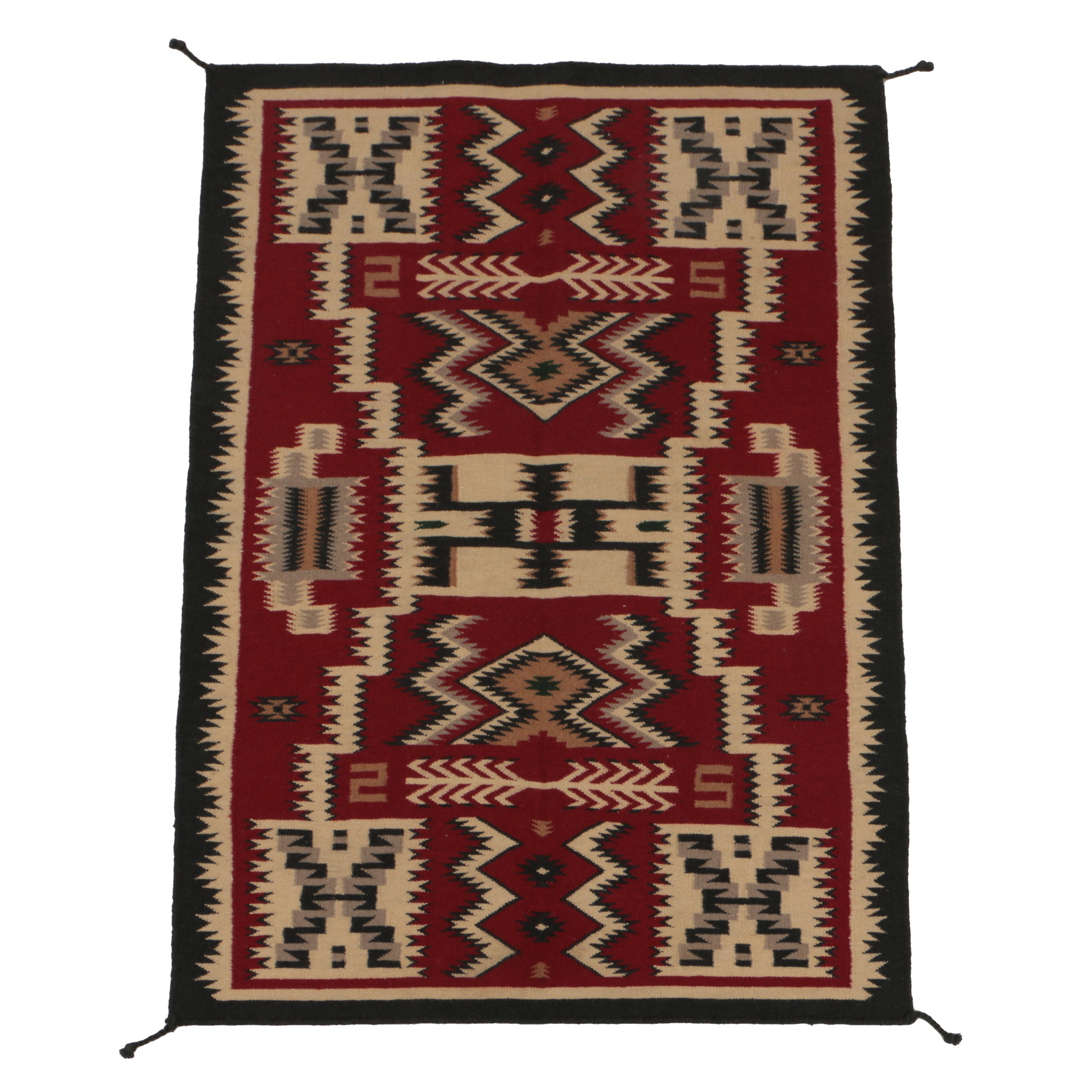 Handwoven Native American-Style Wool Accent Rug