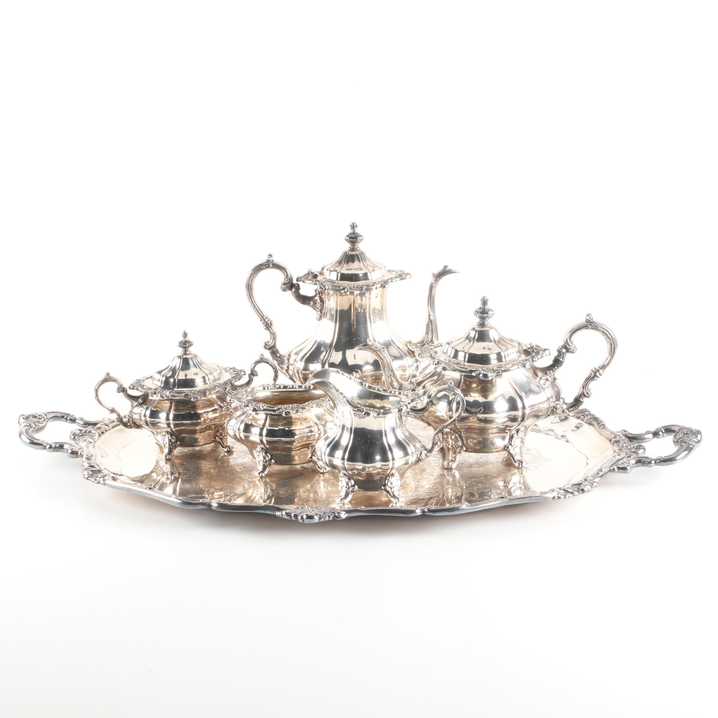 """Gorham """"Rosewood"""" Silver Plate Tea and Coffee Service Set"""