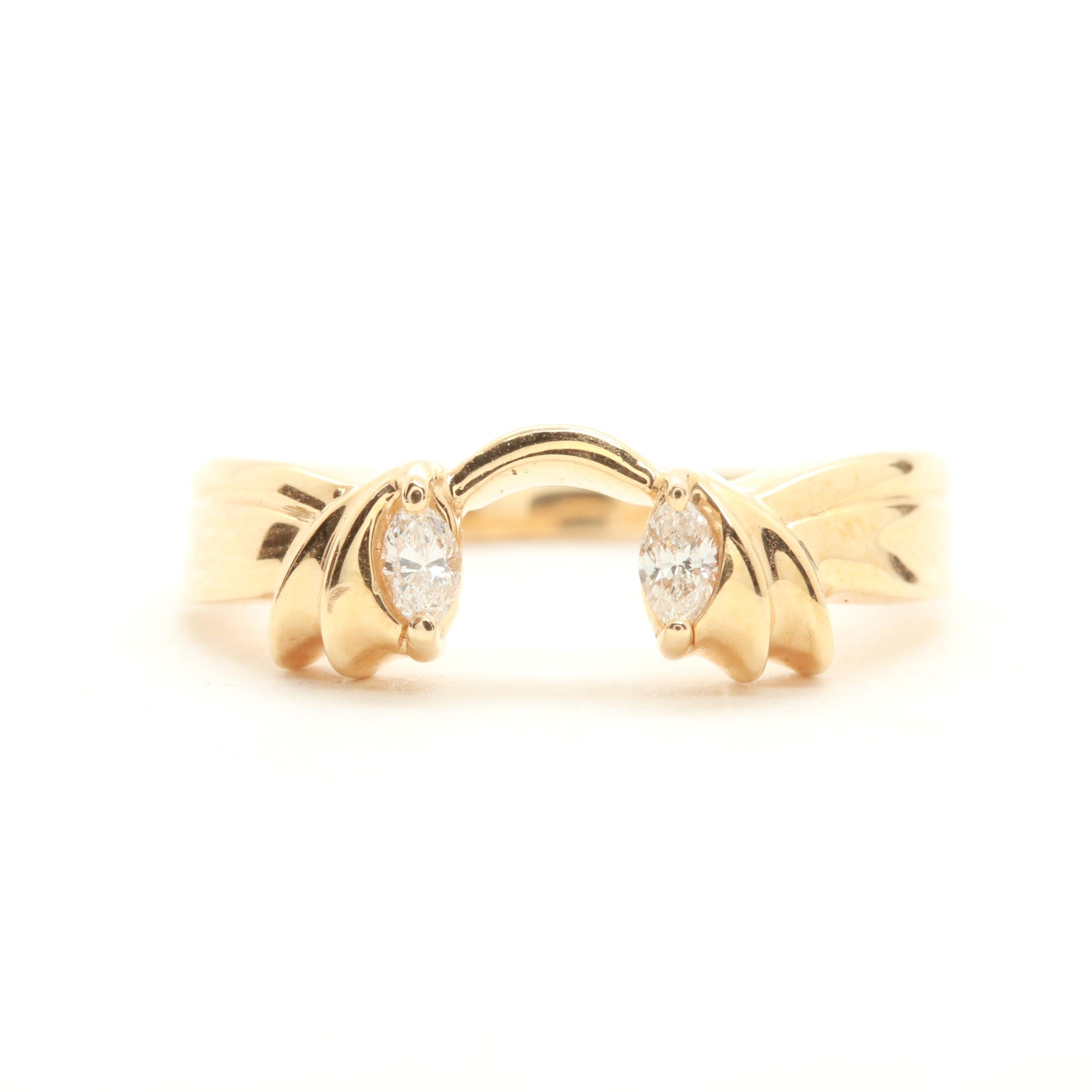 14K Yellow Gold Diamond Nesting Ring