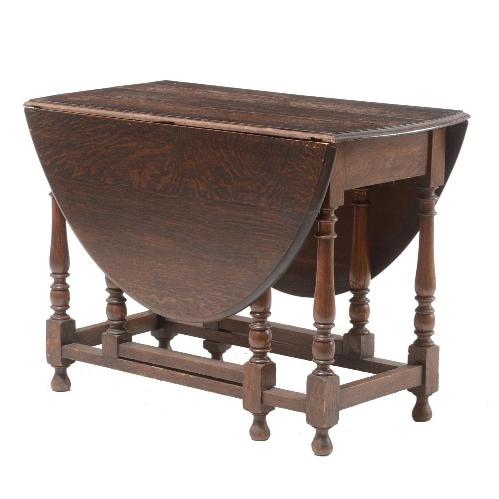 Vintage Oak Drop Leaf Table ...