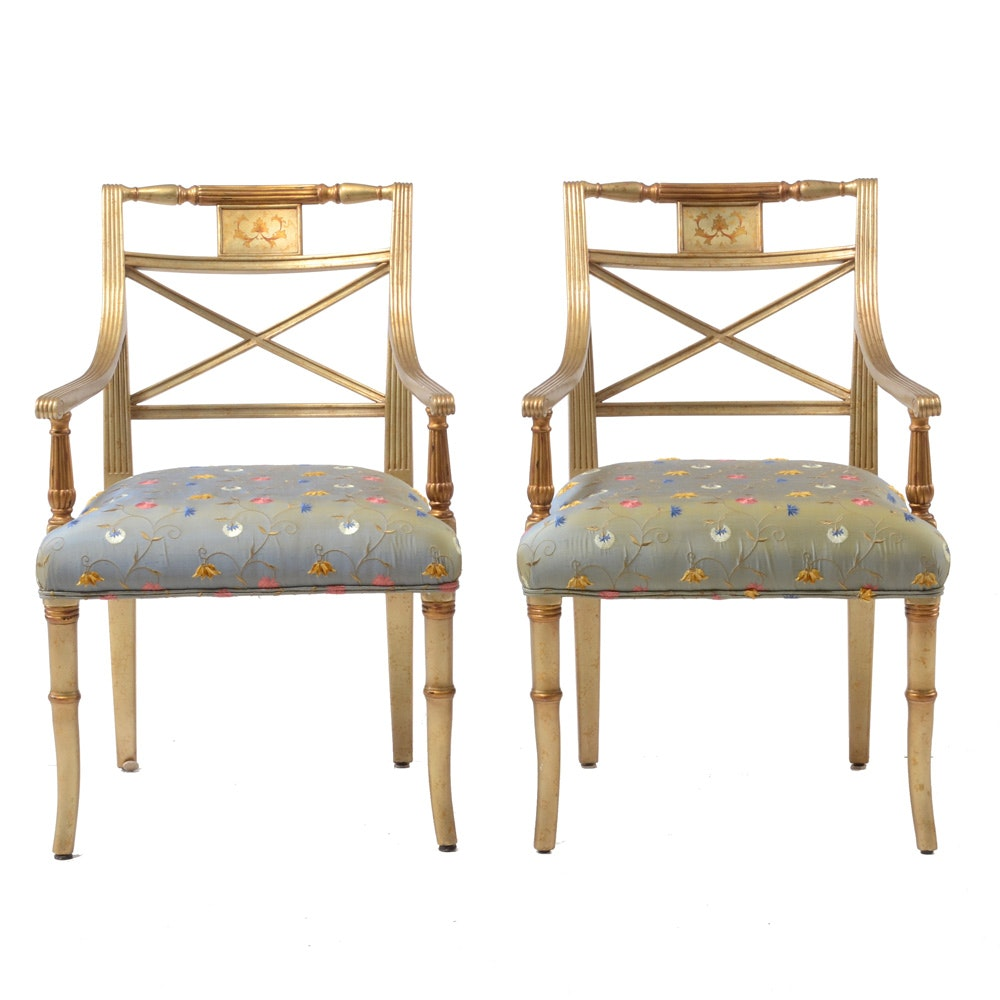 Pair of Federal Style Arm Chairs by Theodore Alexander