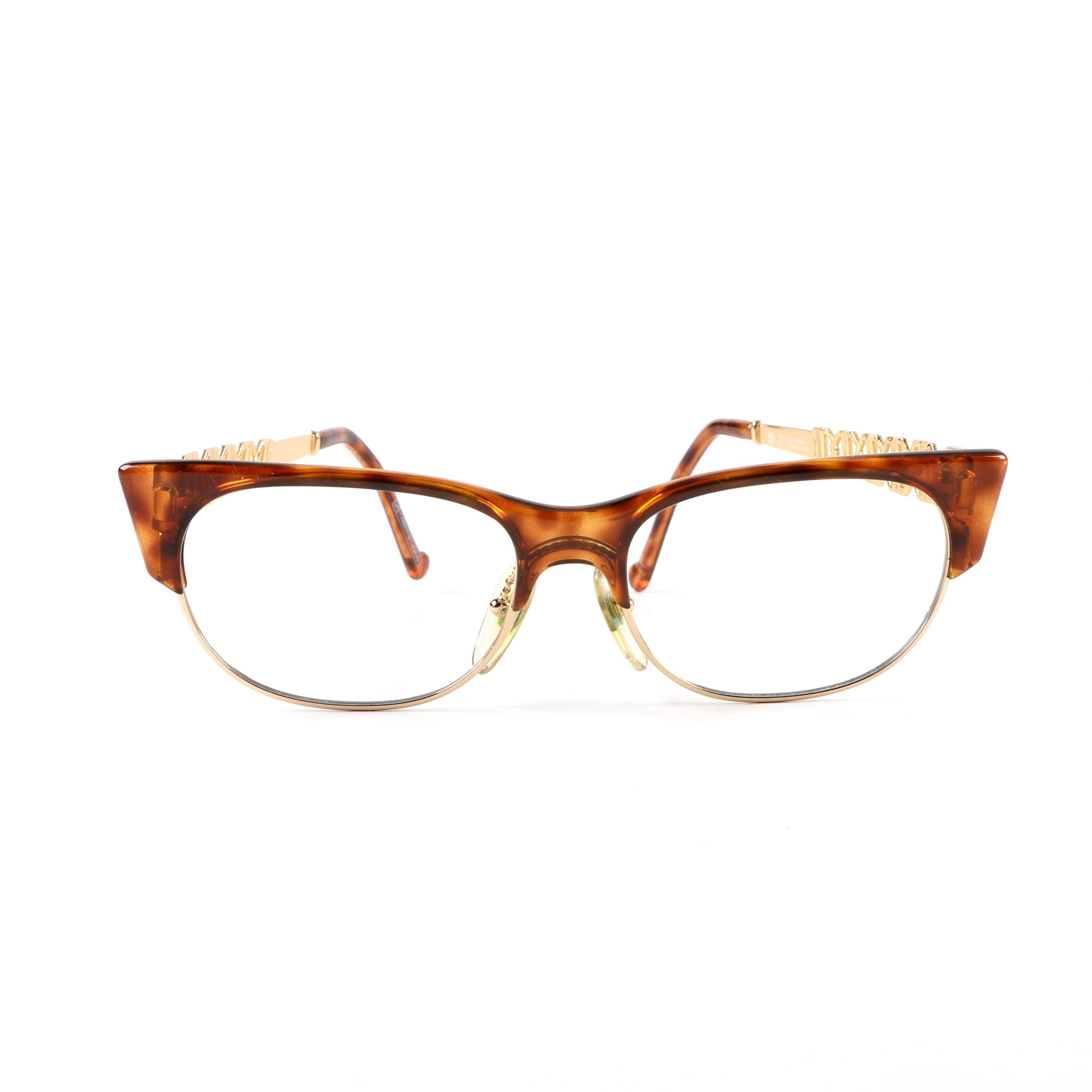 Christian Lacroix Tortoiseshell Style Cat Eye Eyeglass Frames, Made in Germany