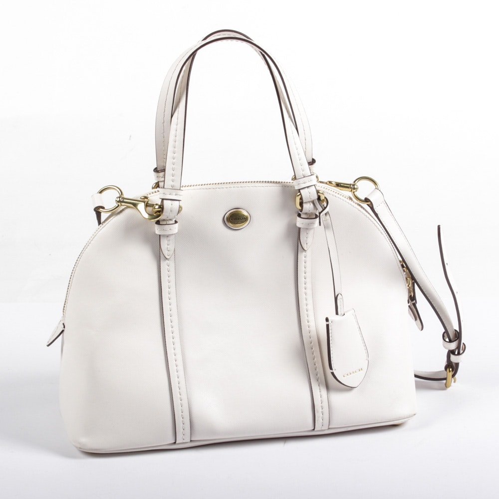 Coach Cora Domed Leather Satchel