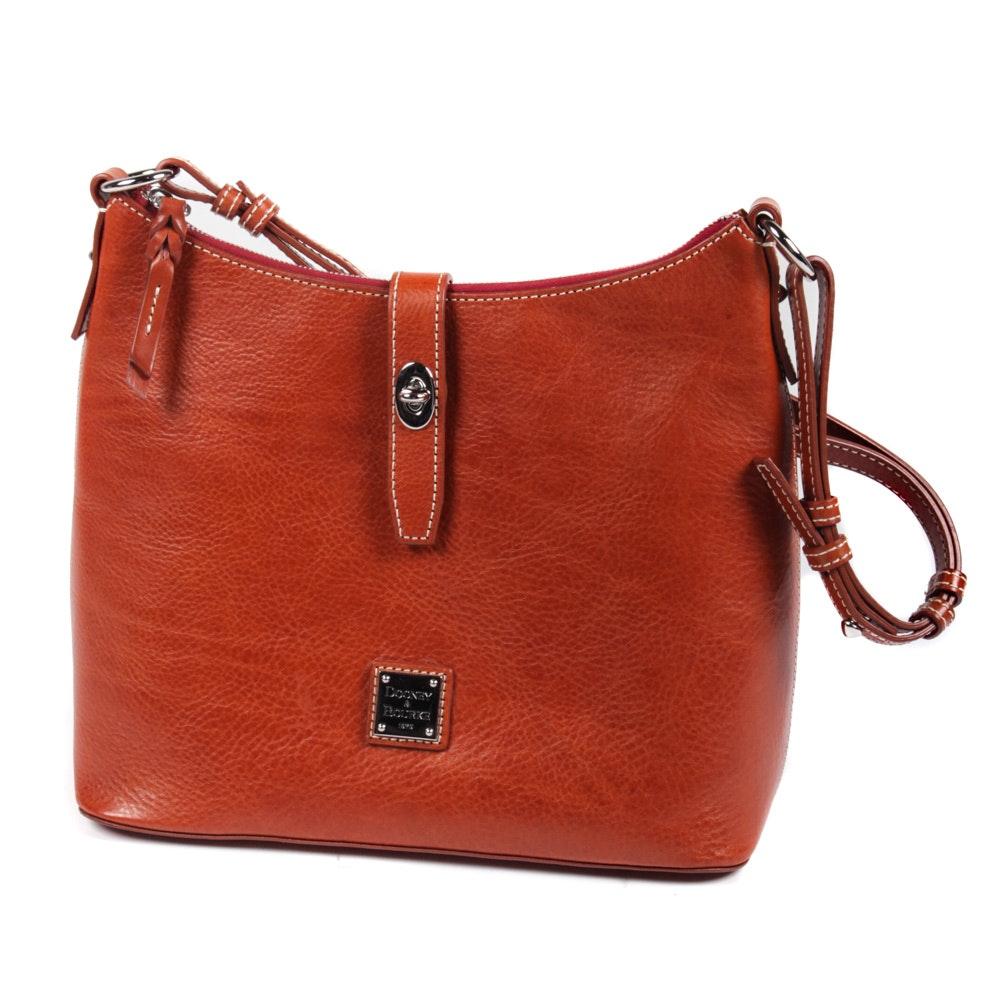 Dooney & Bourke Caramel Brown Leather Shoulder Bag