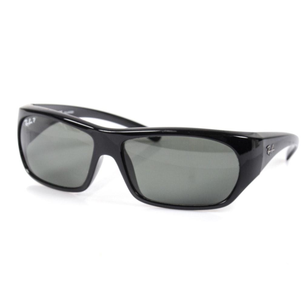 Ray-Ban Leisure Sport Black Polarized Sunglasses