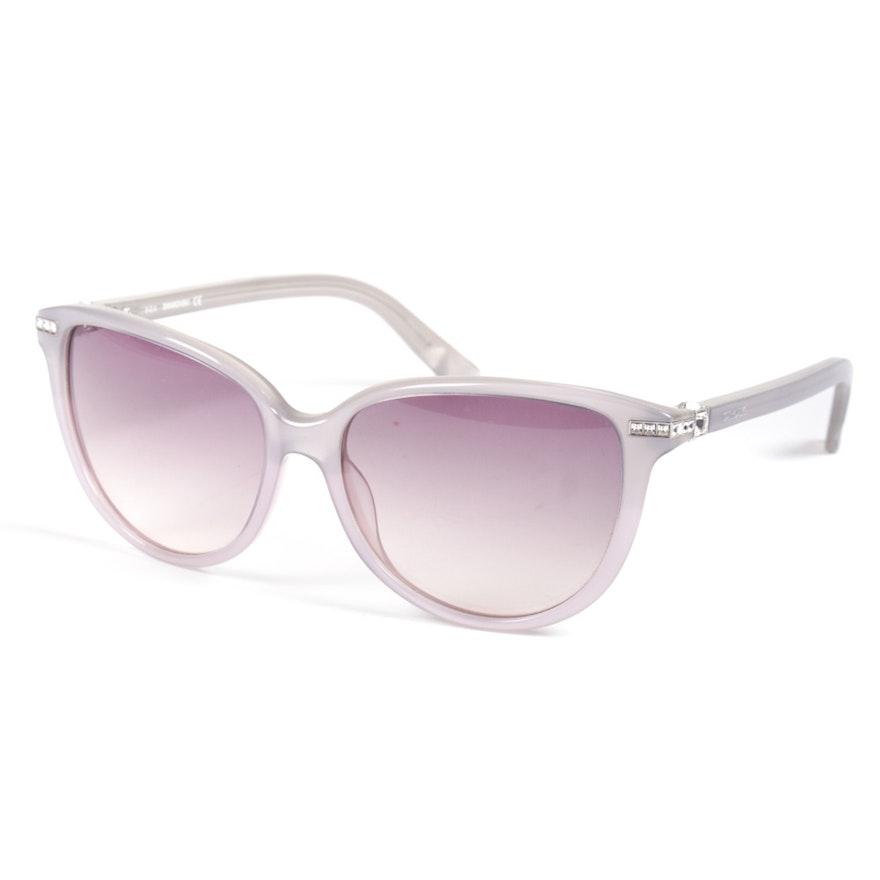 247a684831 Swarovski Edith Cat Eye Crystal Gradient Lens Sunglasses   EBTH