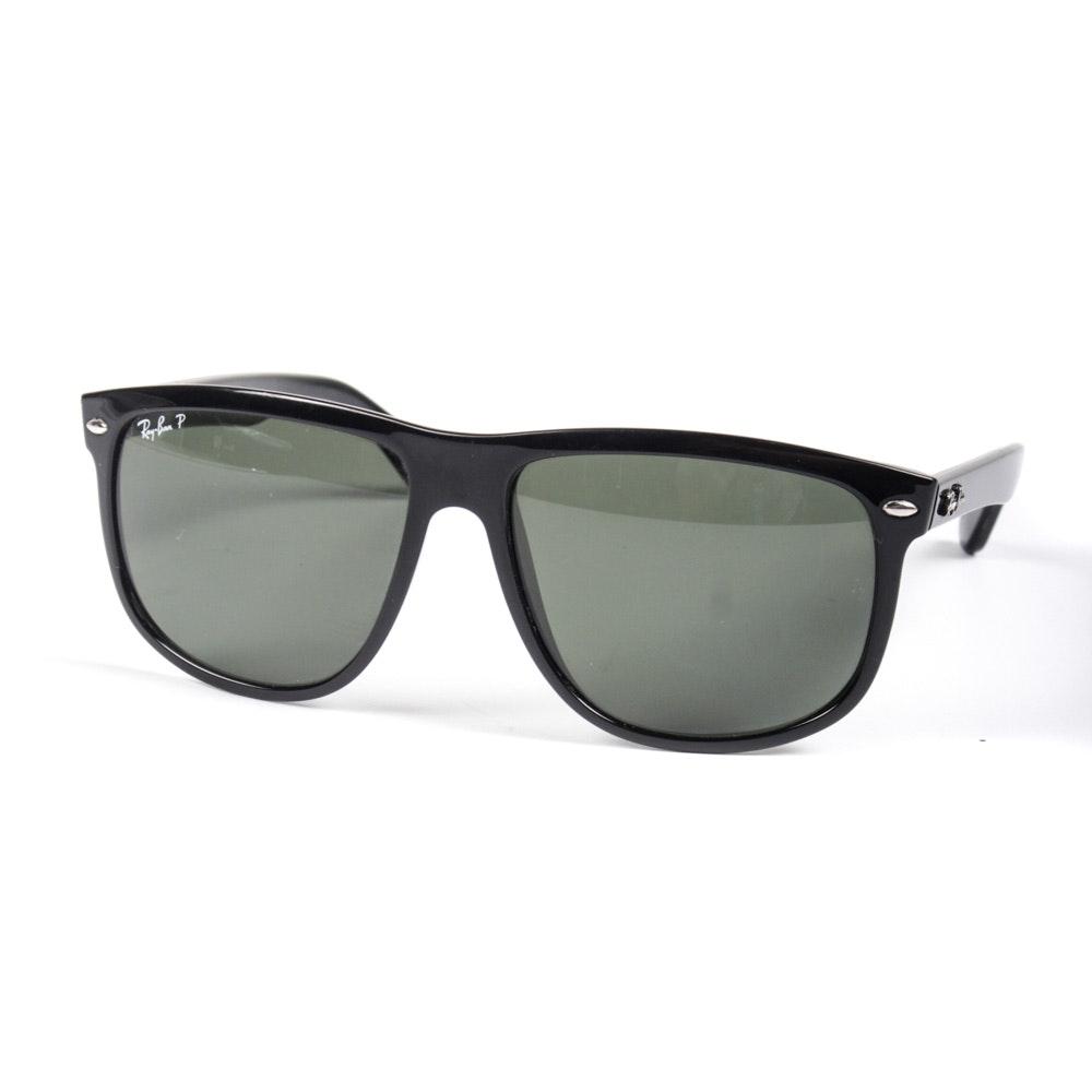 Ray-Ban Boyfriend #4147 Polarized Black Sunglasses