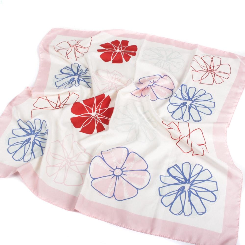 Furla Floral Silk Scarf