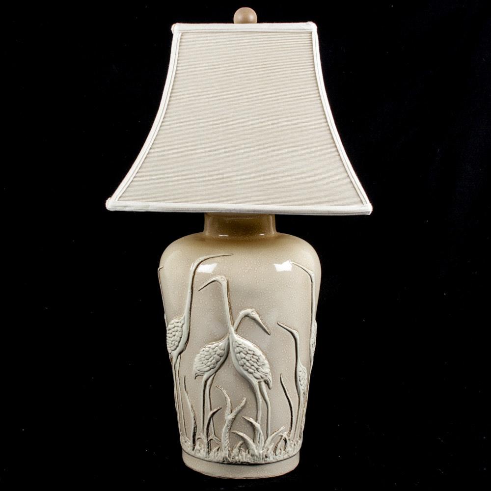 Vintage Porcelain Figural Table Lamp
