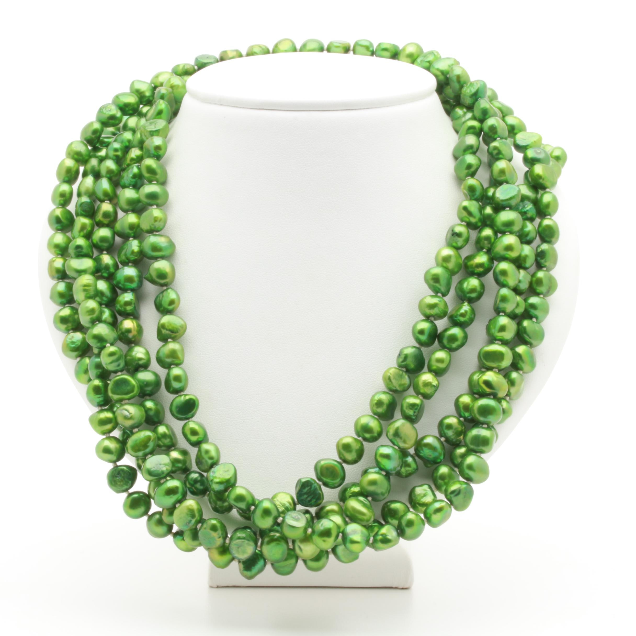 Dyed Cultured Freshwater Pearl Endless Necklace