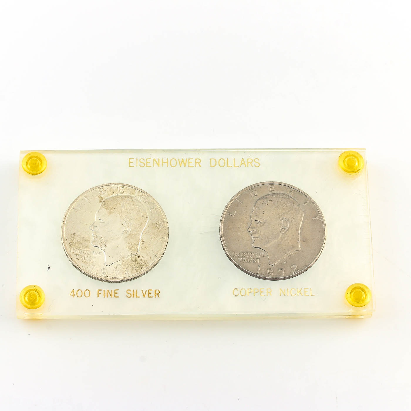 Group of Two Eisenhower Dollars
