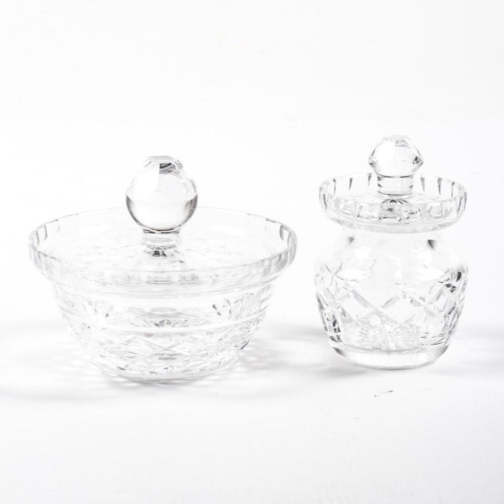 Waterford Crystal Condiment Jars