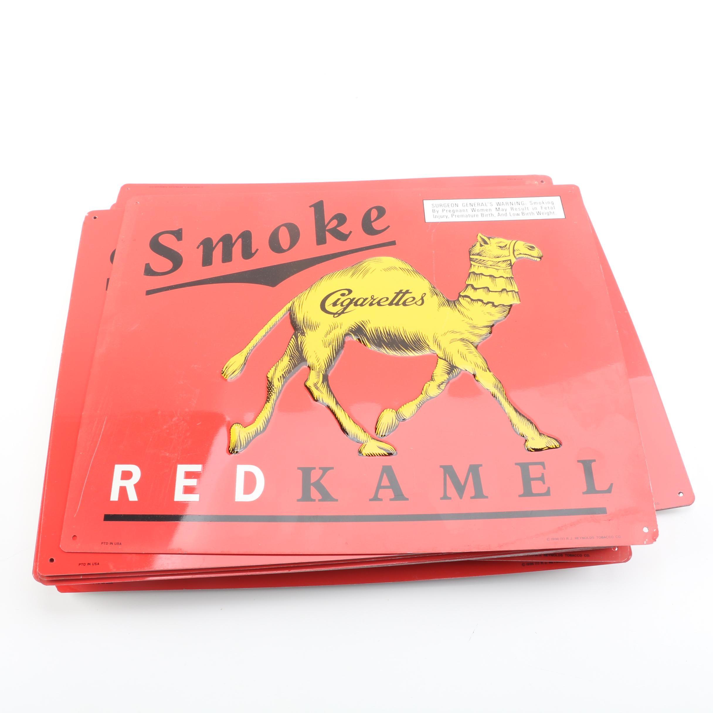 Thirty-Six 1996 Red Kamel Cigarette Metal Signs