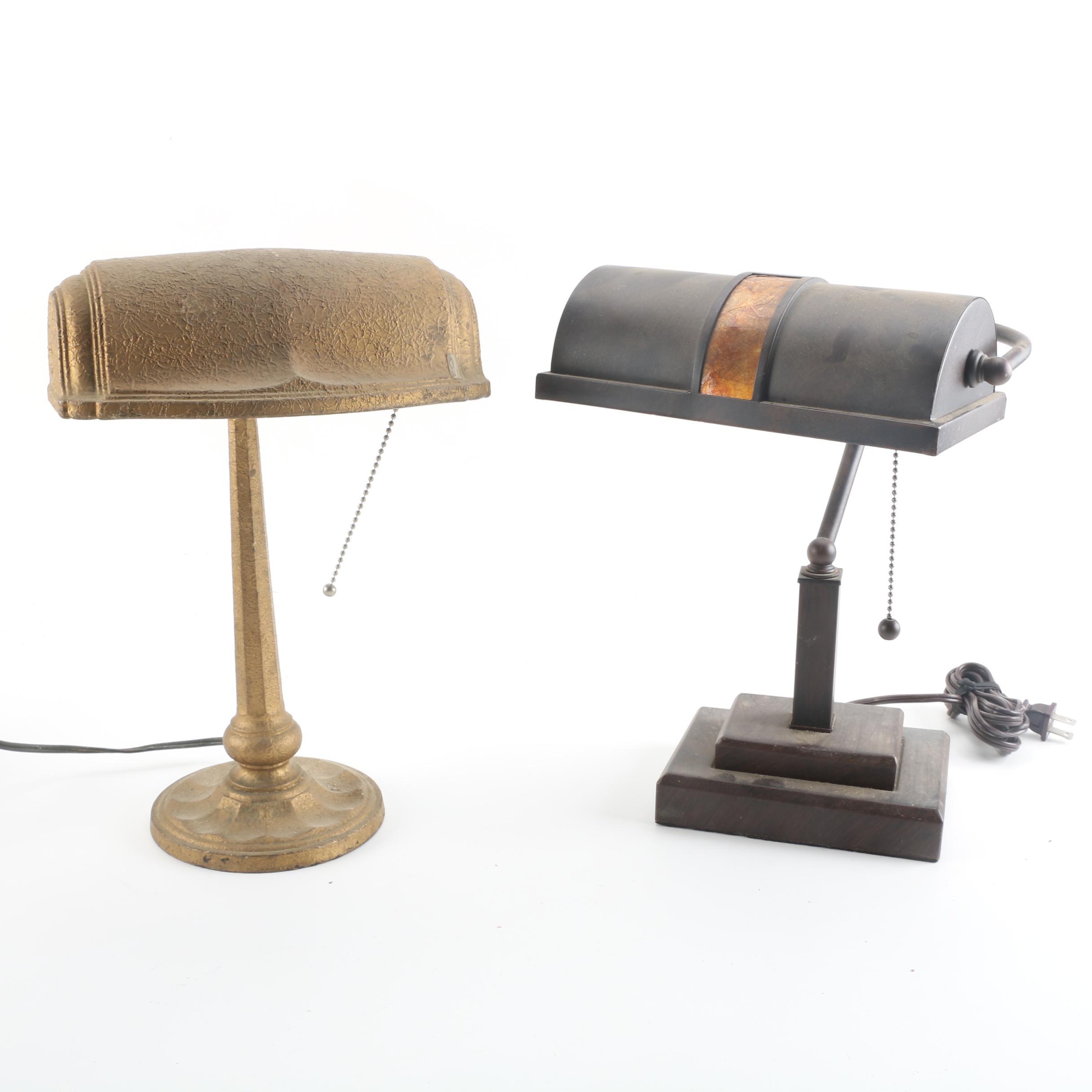 Pair of Vintage Metal Desk Lamps