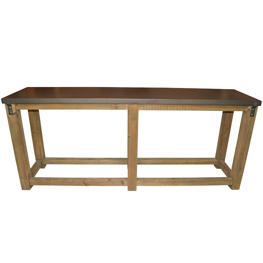 Rustic Console Table By Restoration Hardware
