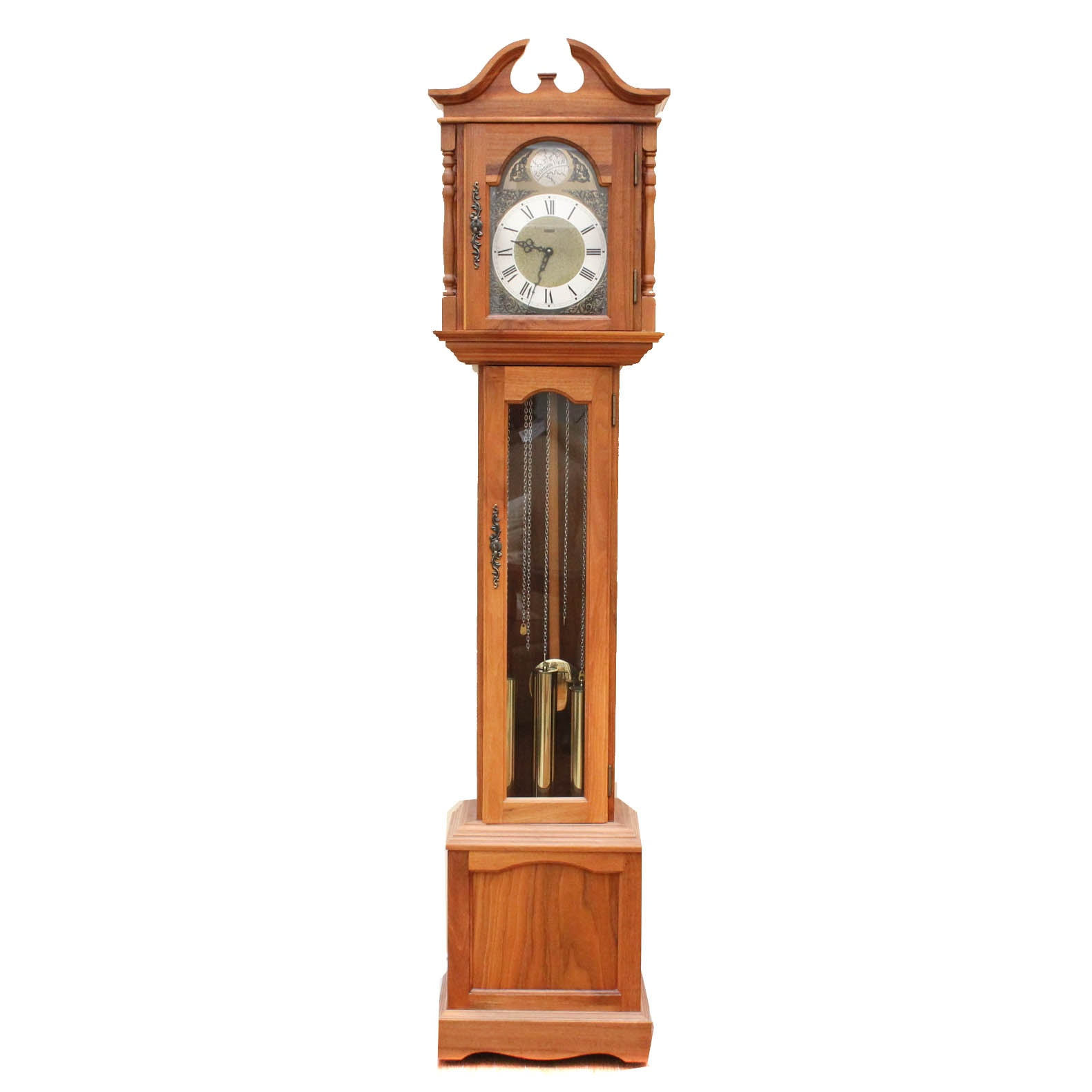 Federal Style Walnut Grandmother Clock by Emperor