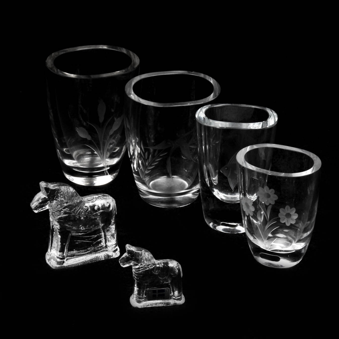Swedish Crystal Vases and Figures