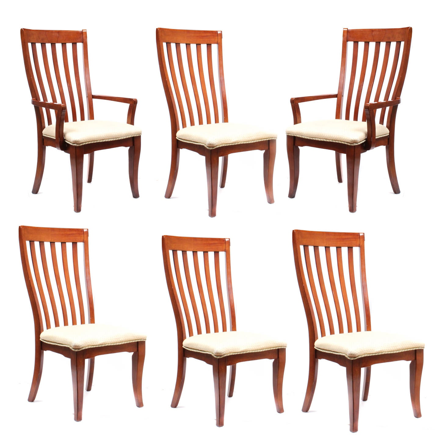 Contemporary Dining Chairs with Slat Backs