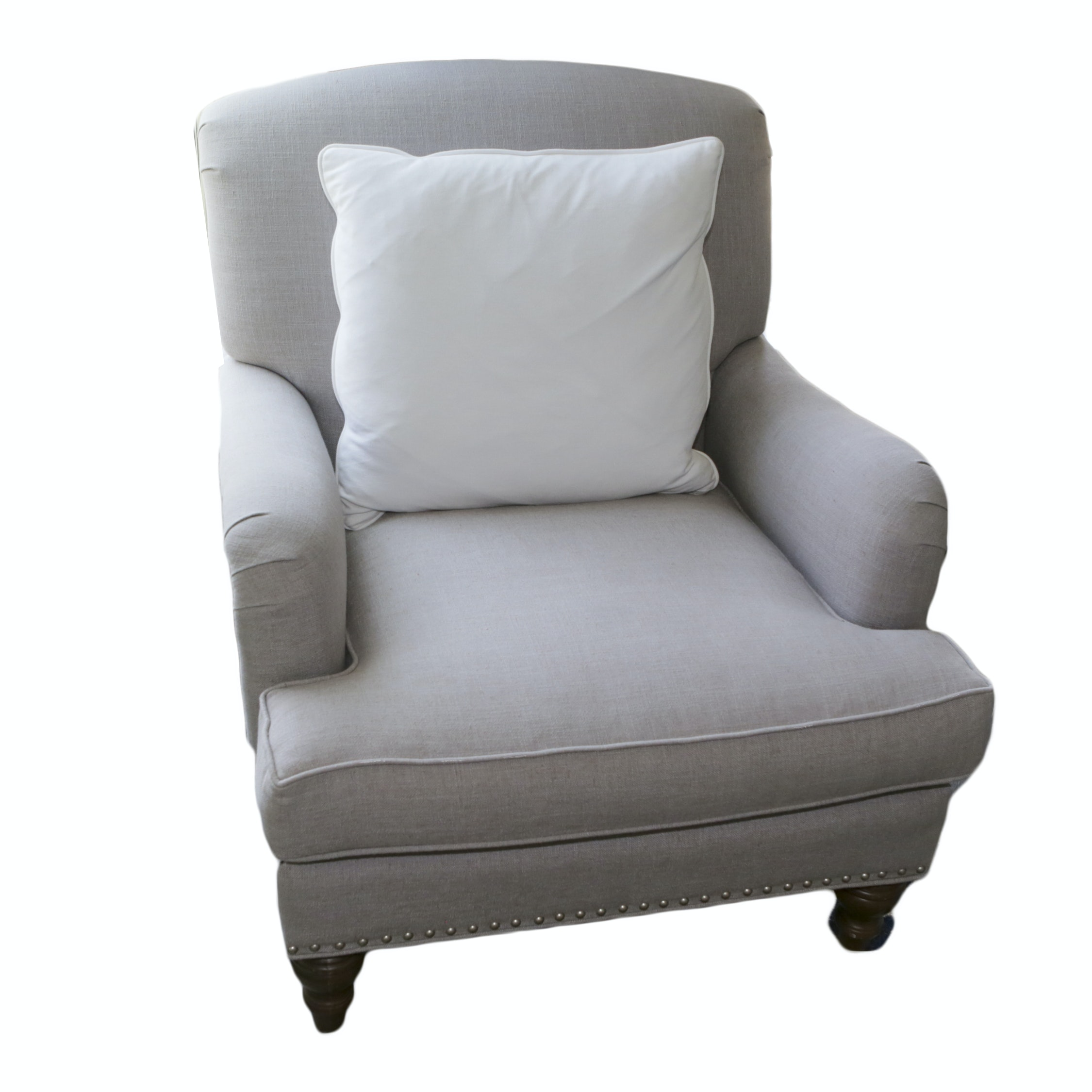 Contemporary Grey Upholstered Armchair