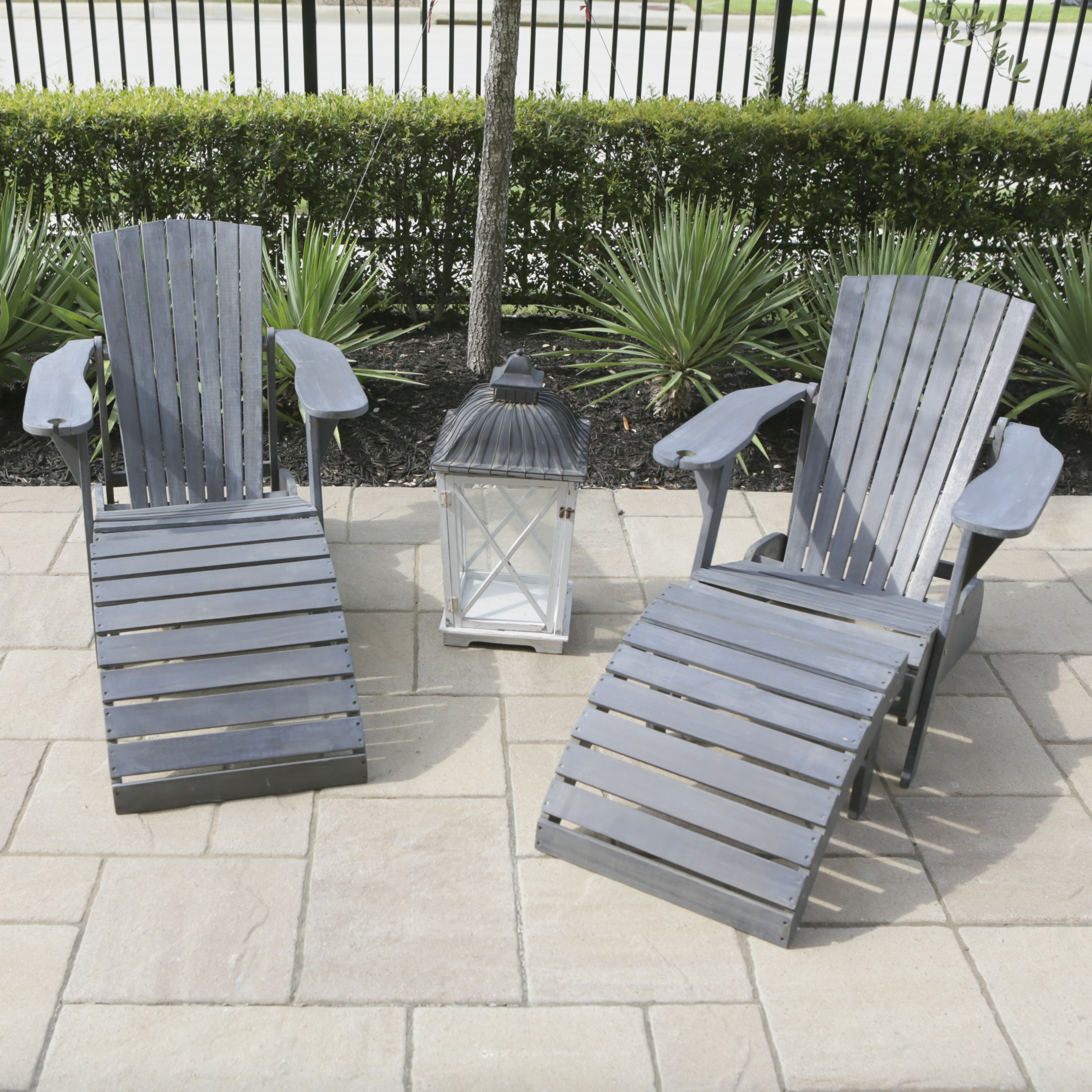 Adirondack Style Patio Chairs and Footrests