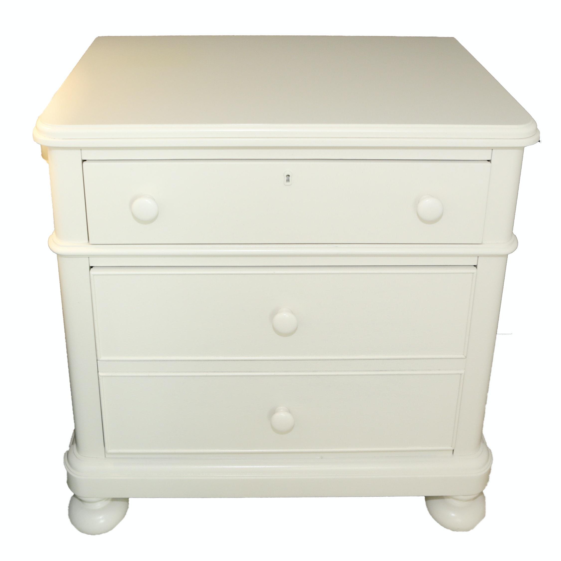 White Painted Nightstand by Bassett