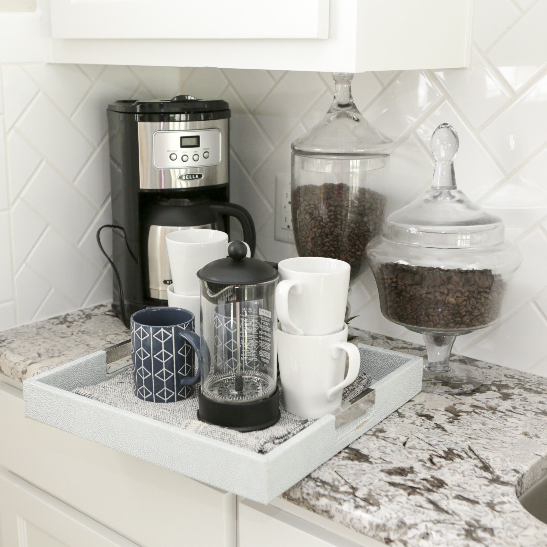 Bella Coffeemaker and Coffee Accessories