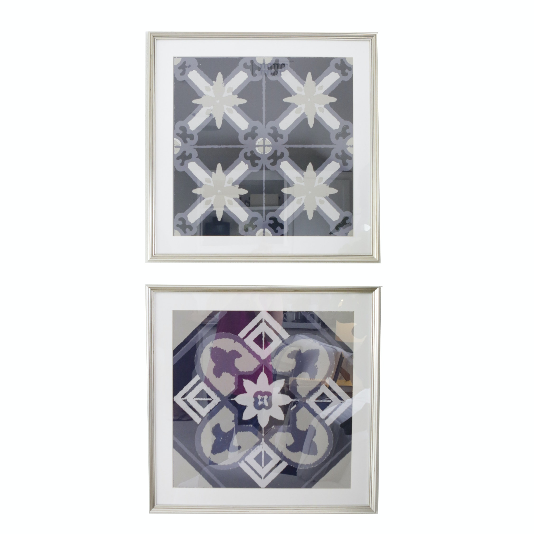 Lithograph Prints of Geometric Motifs