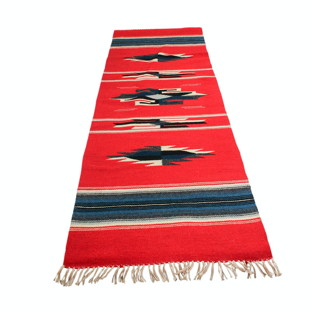 Antique Hand-Woven Wool Saddle Blanket