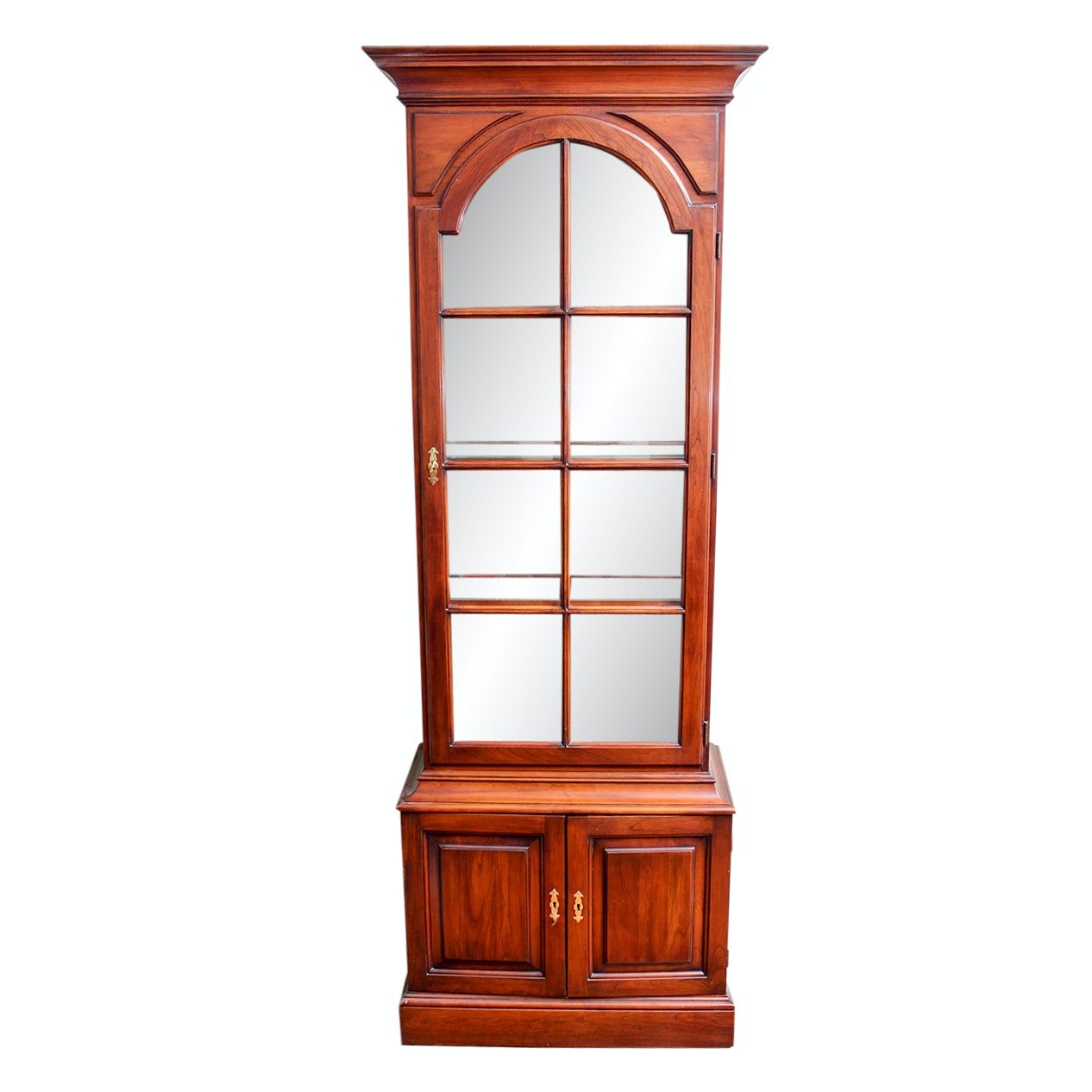 Centennial Cherry Illuminated Display Hutch