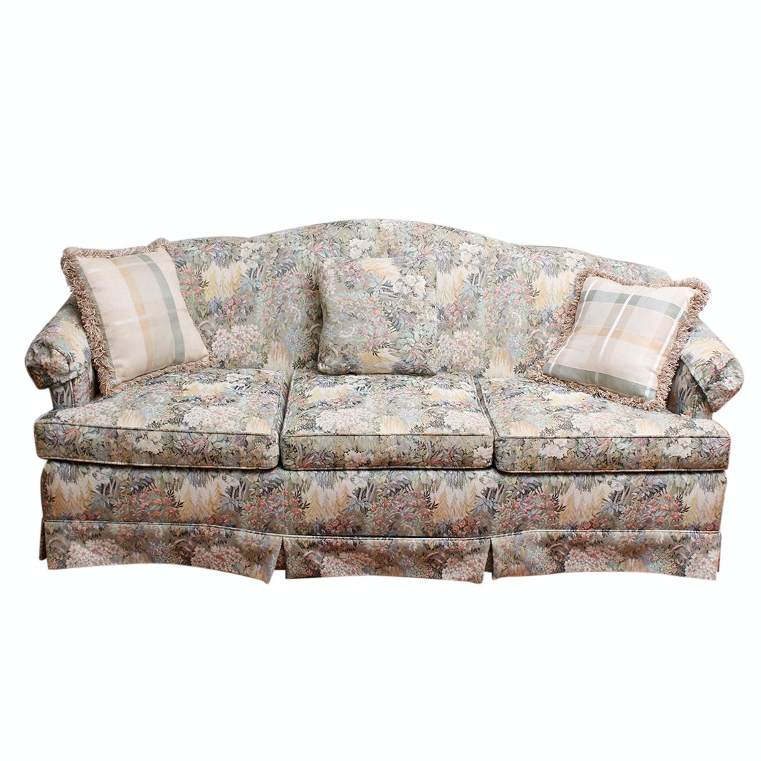 Laine Upholstered Camelback Sofa