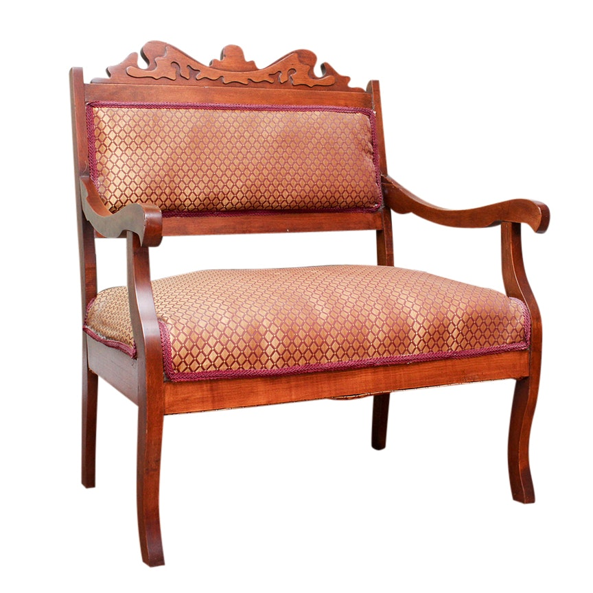 Antique Carved Mahogany Armchair