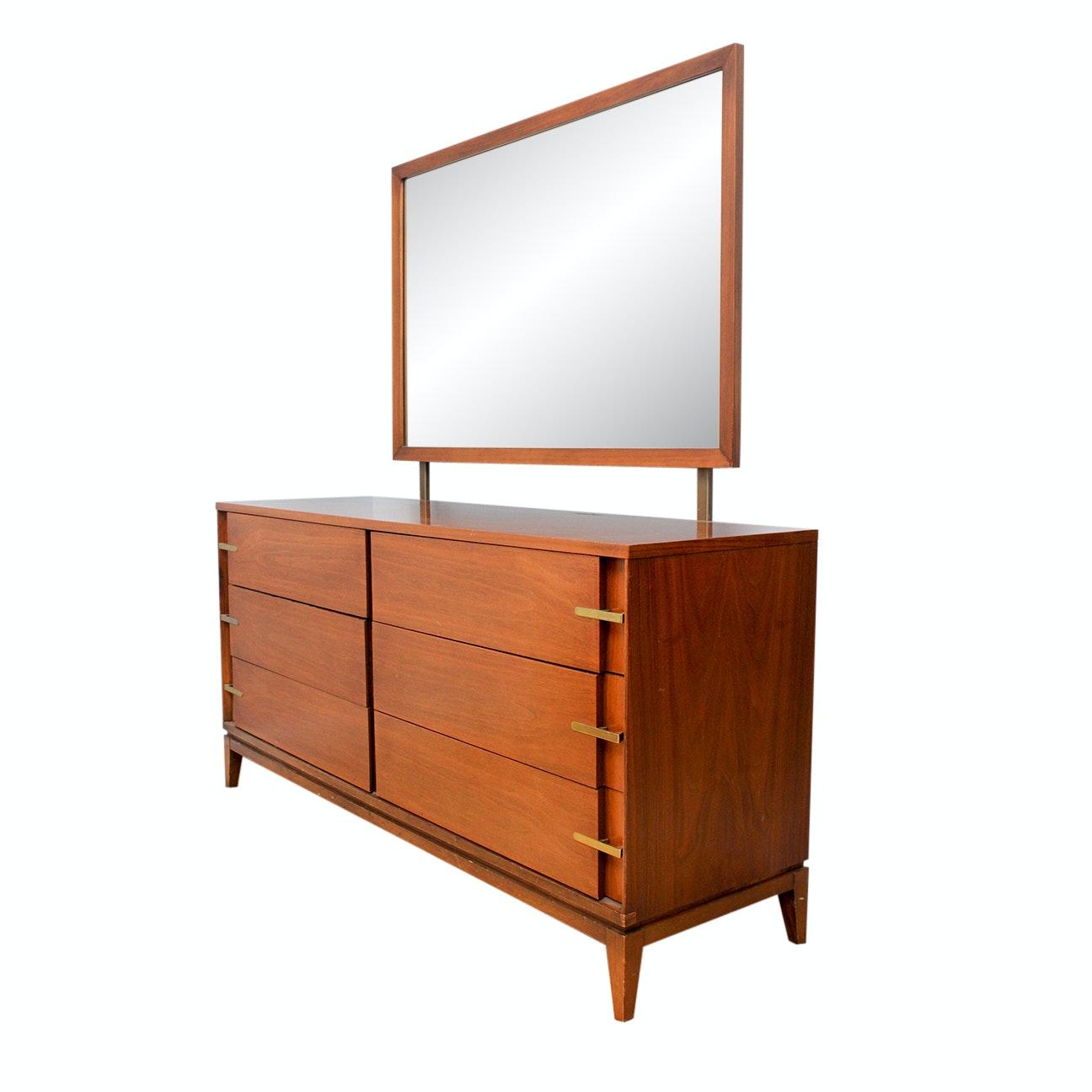 Mid-Century Modern Dresser with Mirror by Basic-Witz Furniture