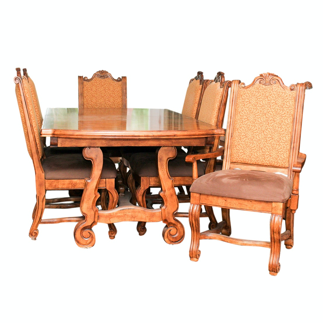 Ashley Furniture Rustic Birch Dining Table and Chairs