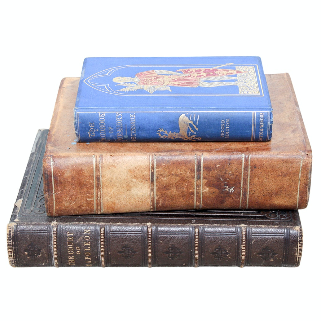 Antique Leather Bound and Hardcover History Books