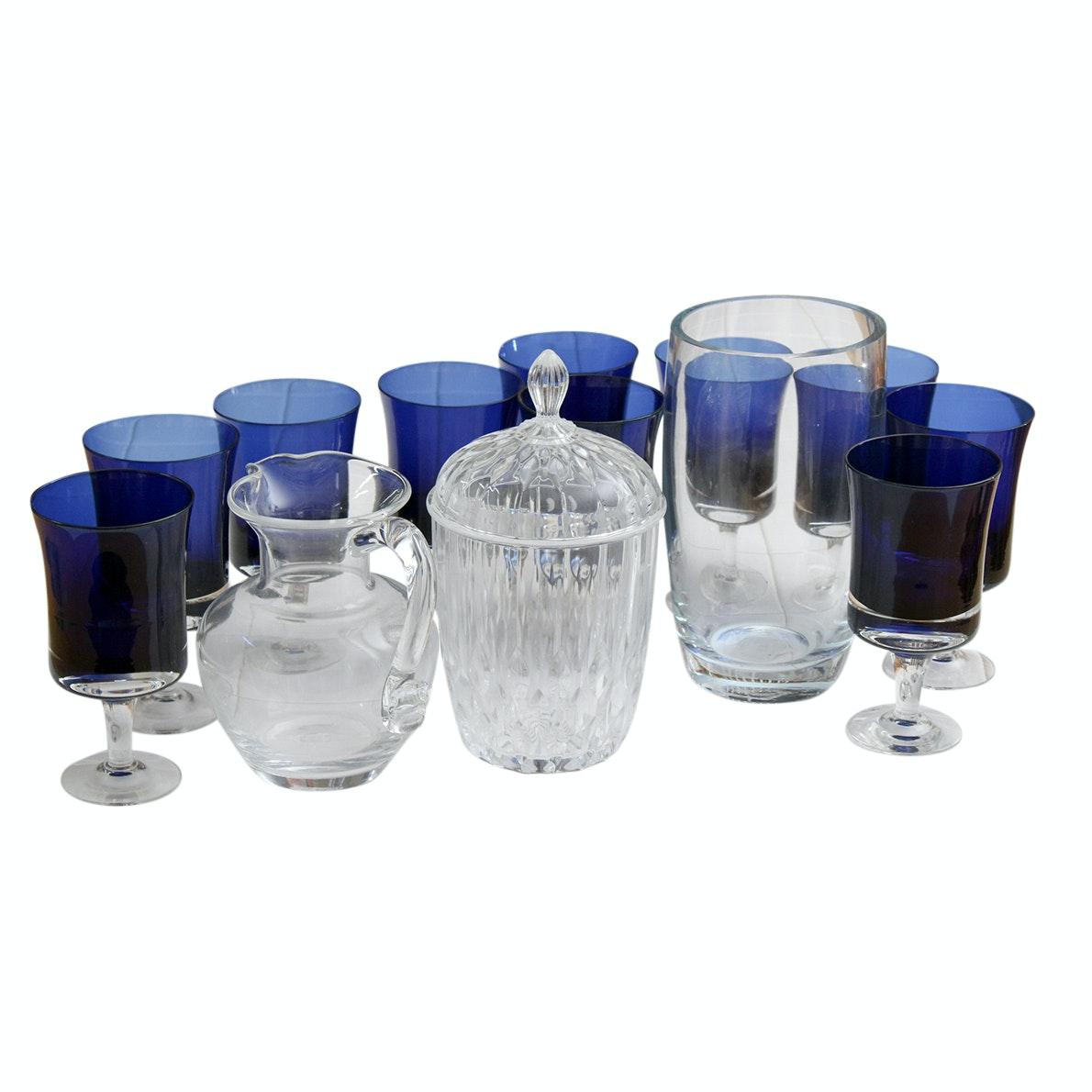 Assorted Glassware Featuring Villeroy & Boch, Simon Pearce and Cristal d'Arques