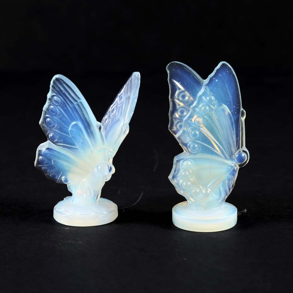 Sabino France Opalescent Art Glass Butterflies