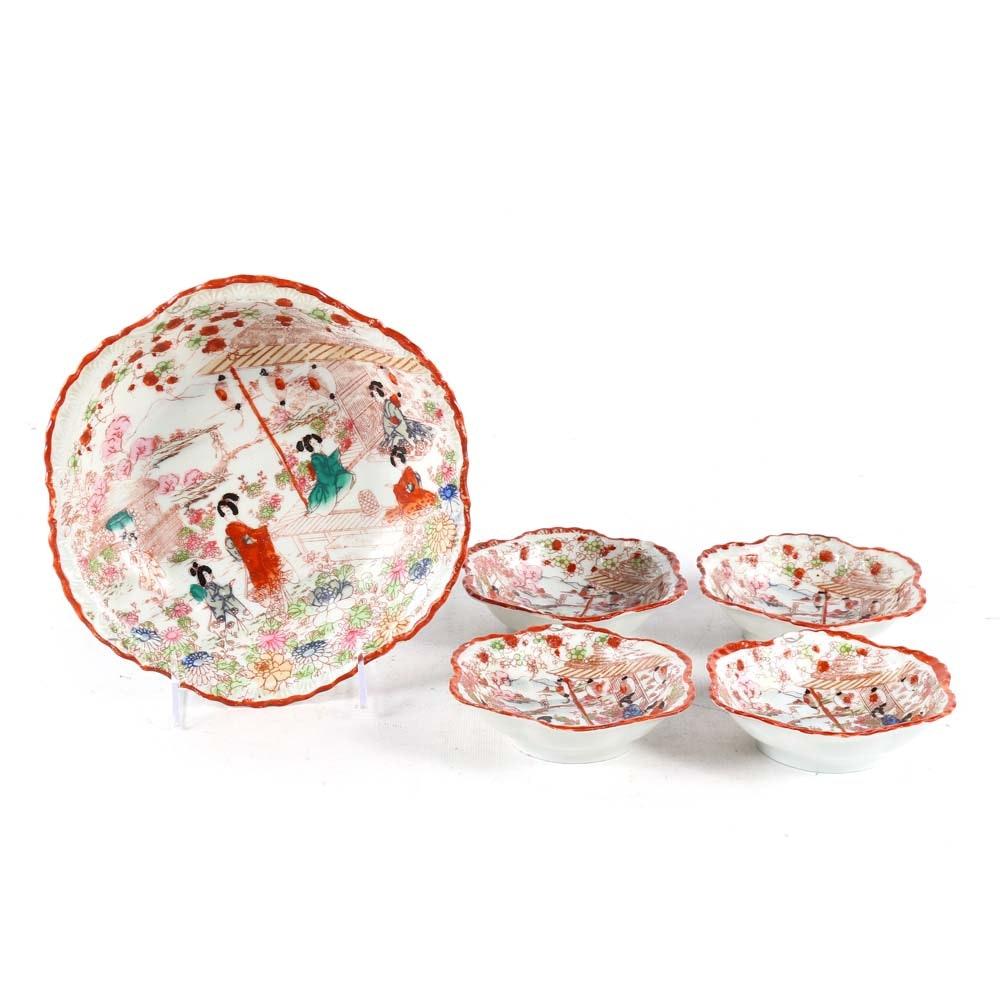Hand Painted Japanese Bowl Set