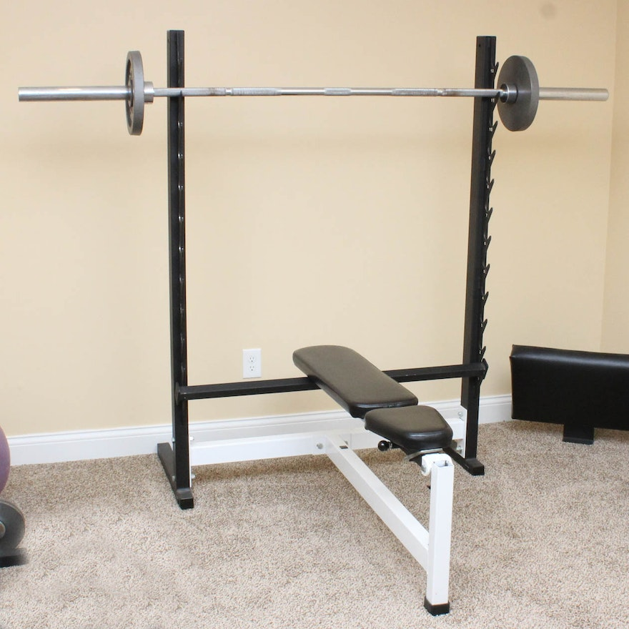 Remarkable Weight Bench And Weights Unemploymentrelief Wooden Chair Designs For Living Room Unemploymentrelieforg