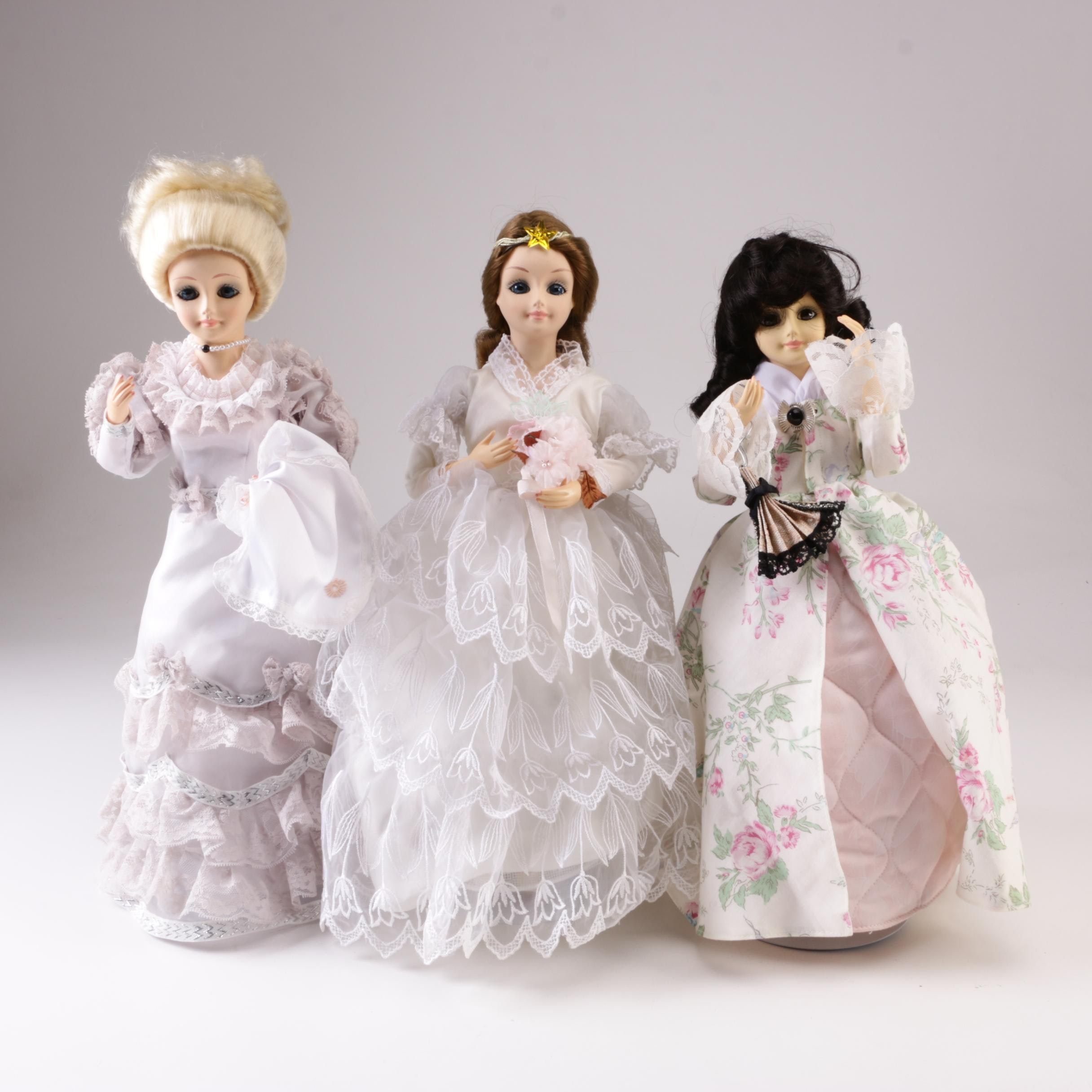 """1987 Brinn's """"First Lady Dolls"""" Including Monroe, Adams and Tyler"""